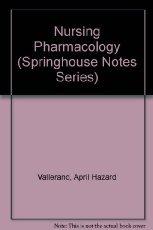 9780874344844: Nursing Pharmacology (Springhouse Notes)