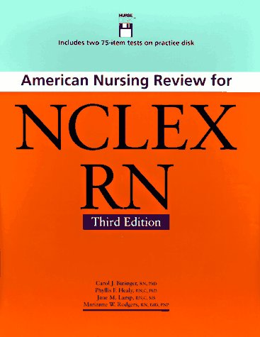 9780874347197: American Nursing Review for Nclex Rn