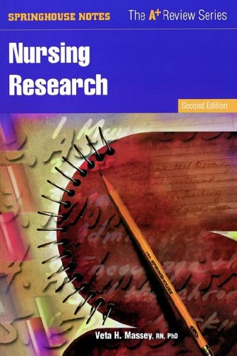 9780874347425: Nursing Research (Springhouse Notes)