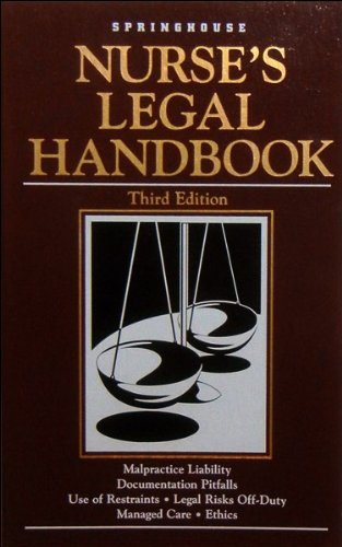 Nurses Legal Handbook: Marcia Andrews, Kathy