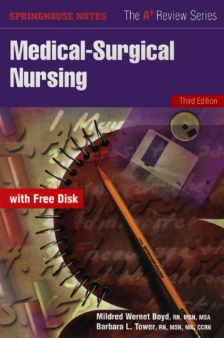 9780874348613 Medical Surgical Nursing Book With Diskette