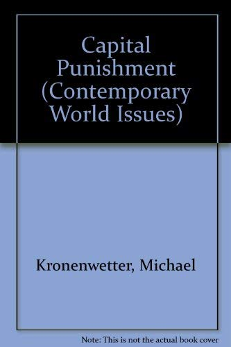 9780874367188: Capital Punishment: A Reference Handbook (Contemporary World Issues)