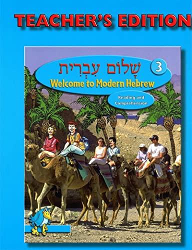 Shalom Ivrit Book 3 - Teacher's Edition: Behrman House