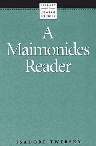 9780874412062: A Maimonides Reader (Library of Jewish Studies)