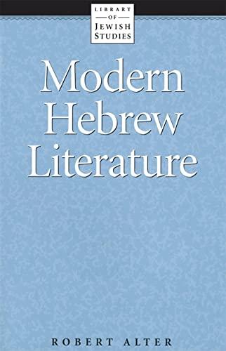 9780874412352: Modern Hebrew Literature