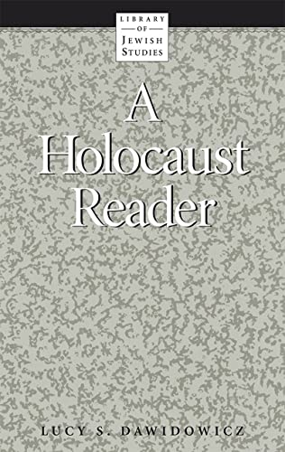 9780874412369: A Holocaust Reader (Library of Jewish Studies) (English and Multilingual Edition)