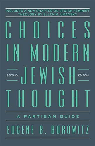 9780874415810: Choices in Modern Jewish Thought