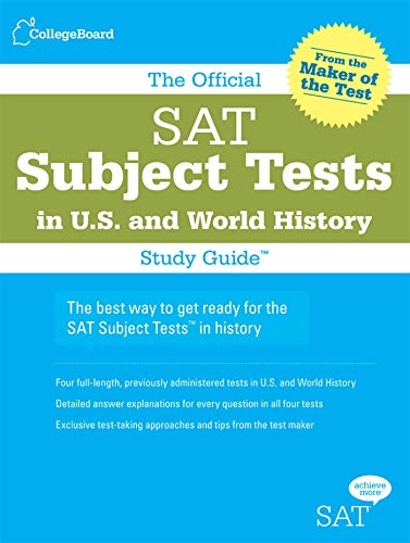 9780874477696: The Official SAT Subject Tests in U.S. & World History Study Guide (Official Sat Subject Tests in U.S. History and World History)