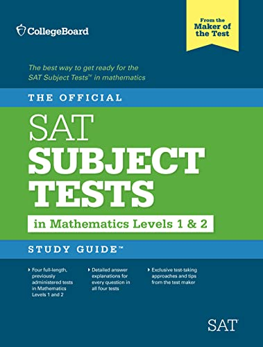 9780874477726: OFFICIAL SAT SUBJECT TESTS IN MATHE (Official Sat Subject Tests in Mathematics Levels 1 & 2 Study Guide)