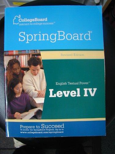 9780874478068: Springboard English Textual Power, Level 4