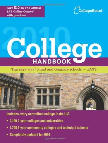 9780874478464: College Handbook 2010 (College Board College Handbook)