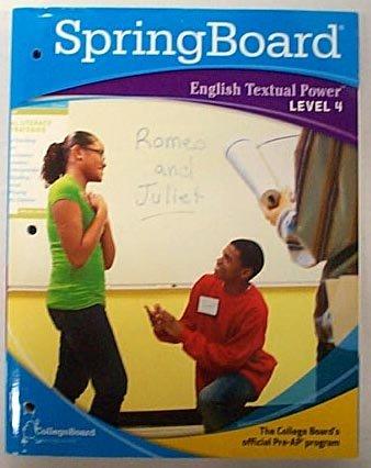 9780874478594: SpringBoard English Textual Power Level 4