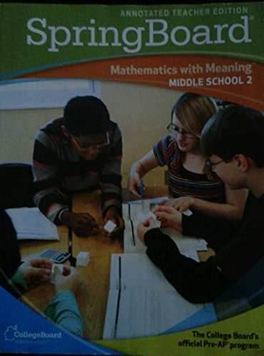 9780874478655: SpringBoard: Mathematics with Meaning, Middle School 2