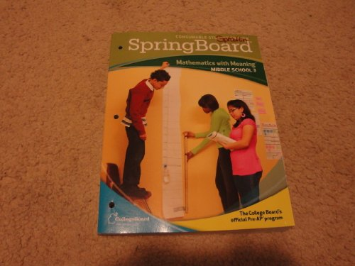 9780874478662: SpringBoard Mathematics with Meaning Level 3 (MIddle School 3)