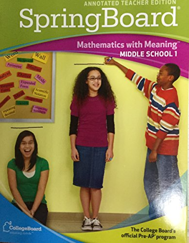 9780874478792: Springboard Mathematics With Meaning Middle School 1 Teacher Edition