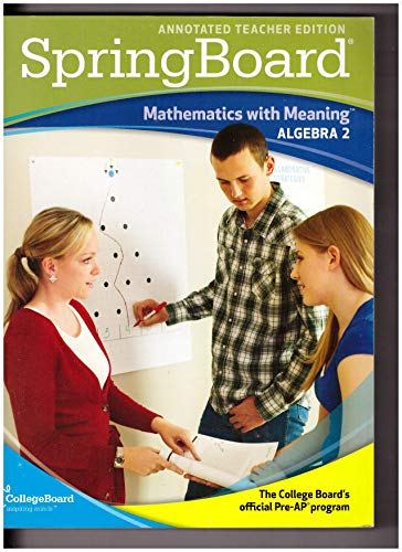 9780874478846: SpringBoard: Mathematics with Meaning, Algebra 2