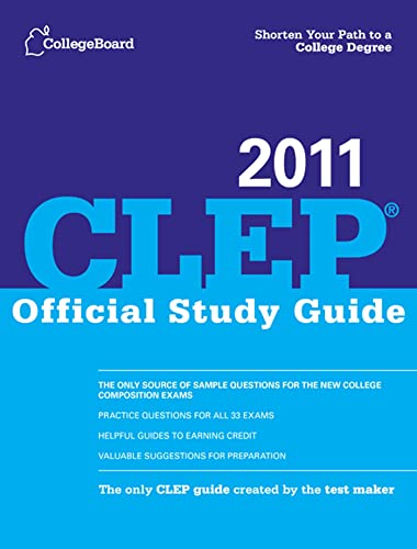 9780874479010: CLEP Official Study Guide 2011 (College Board CLEP: Official Study Guide)