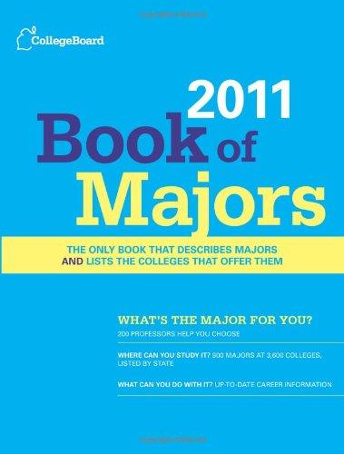 9780874479041: Book of Majors 2011 (College Board Book of Majors)