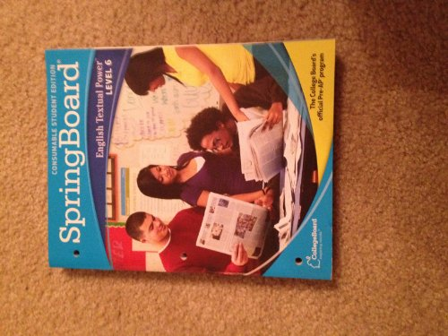 9780874479171: SpringBoard English Textual Power Level 6