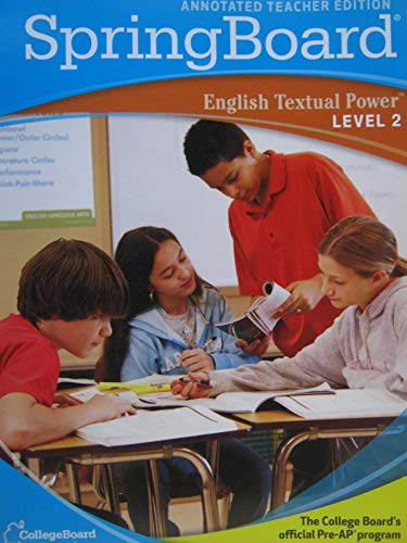 9780874479201: SpringBoard English Textual Power (Level 2 Annotated Teacher Edition)