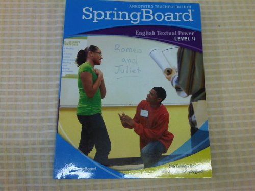 9780874479225: Spring Board; English Textual Power Level 4 (Annotated Teacher Edition)