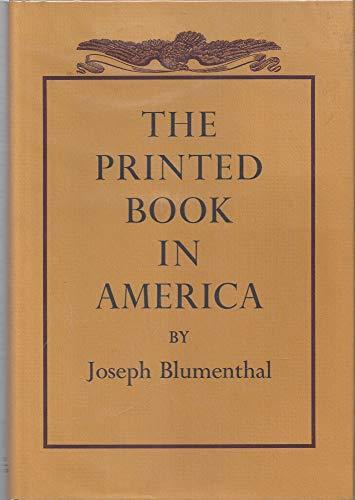 The Printed Book in America: Joseph Blumenthal