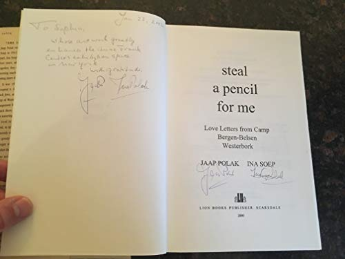 9780874603958: Steal a Pencil for Me: Love Letters from Camp Bergen-Belsen and Westerbork