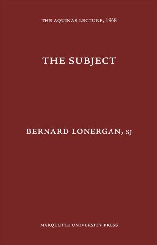 9780874621334: The Subject. The Aquinas Lecture, 1968
