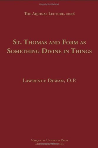 9780874621747: St. Thomas and Form as Something Devine in Things