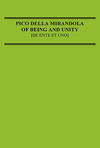 9780874622034: Pico Della Mirandola: Of Being and Unity (Medieval Philosophical Texts in Translation)