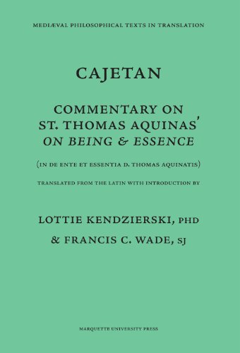 9780874622140: Commentary on Being and Essence: (In De Ente et Essentia d. Thomas Aquinatis) (Mediaeval Philosophical Texts in Translation)