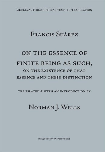9780874622249: On the Essence of Finite Being As Such, on the Essence of That Essence and Their Distinction (Mediaeval Philosophical Texts in Translation) (English and Latin Edition)