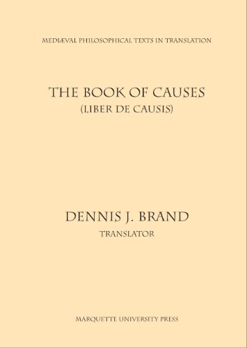 9780874622256: The Book of Causes: Liber De Causis (Mediaeval Philosophical Texts in Translation)