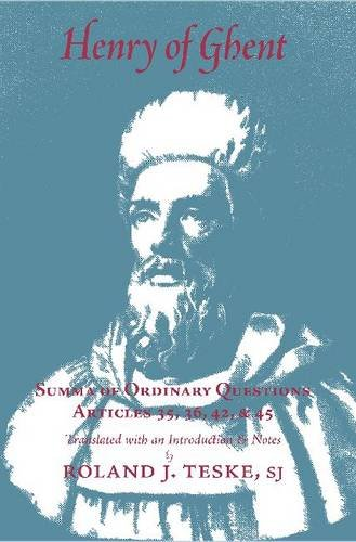 9780874622591: Henry of Ghent: Summa of Ordinary Questions, Articles 35, 36, 42, 45