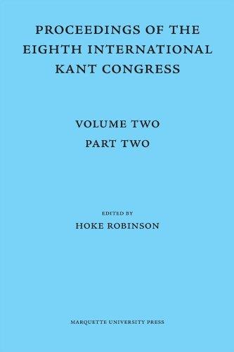 9780874624786: 2: Proceedings of the Eighth International Kant Congress