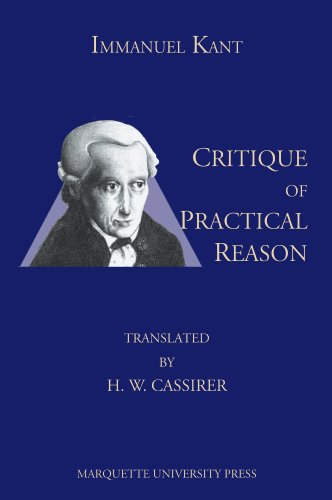 9780874626162: Critique of Practical Reason (Marquette Studies in Philosophy)