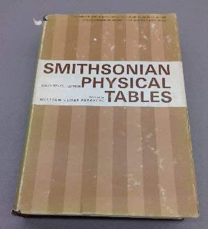 9780874740158: Smithsonian Physical Tables