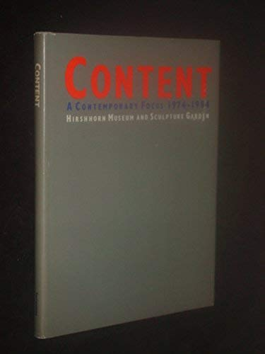 9780874744361: Content: A Contemporary Focus, 1974-1984