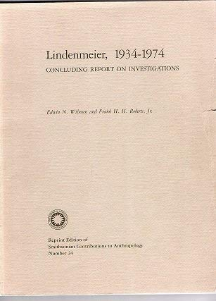 9780874749694: Lindenmeier, 1934-74: Concluding Report on Investigations