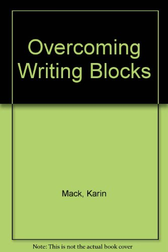 Overcoming Writing Blocks: Eric W. Skjei;