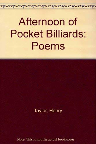 An afternoon of pocket billiards : poems