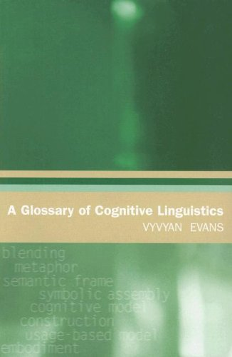 9780874809145: A Glossary of Cognitive Linguistics