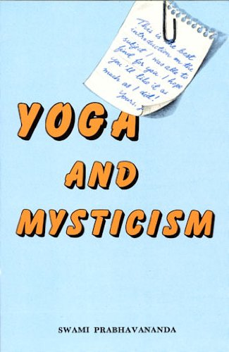 9780874810202: Yoga and Mysticism: An Introduction to Vedanta