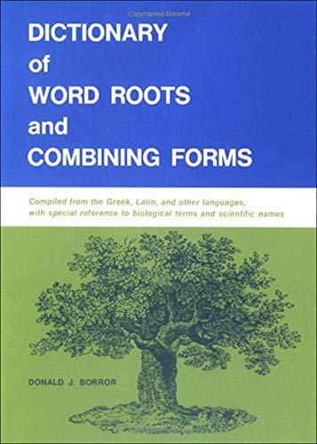 9780874840537: Dictionary of Word Roots and Combining Forms