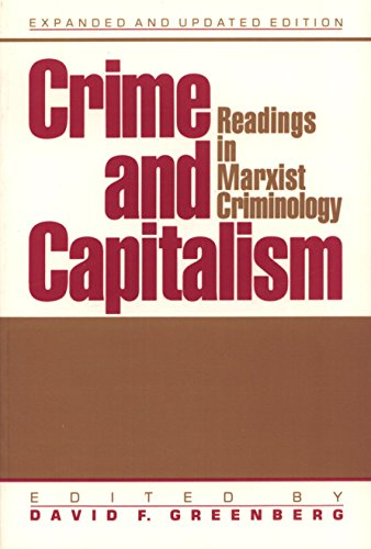 9780874845051: Crime and Capitalism: Readings in Marxist Criminology
