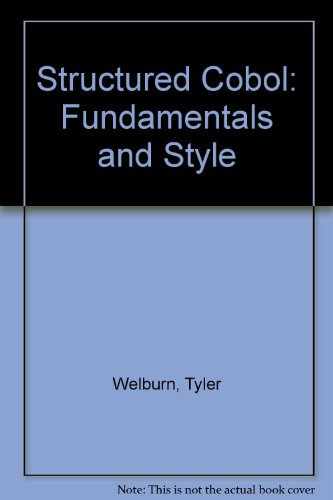 9780874845433: Structured Cobol: Fundamentals and Style