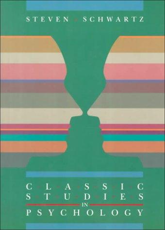 9780874847963: Classic Studies in Psychology