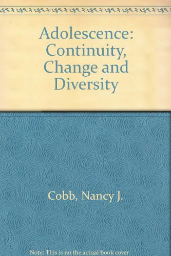 9780874848885: Adolescence: Continuity, Change and Diversity
