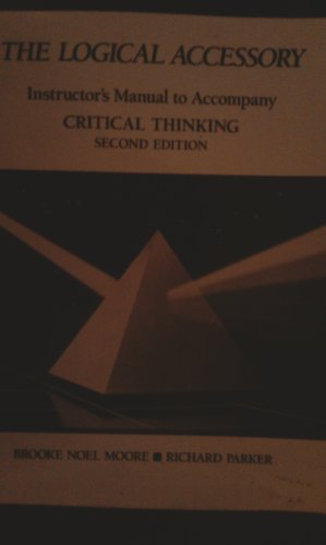 9780874849141: Critical Thinking