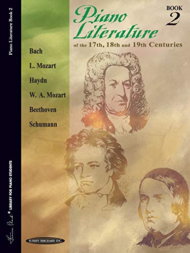 9780874871265: Piano Literature of the 17th, 18th and 19th Centuries, Book 2 (Frances Clark Library for Piano Students)